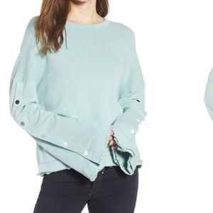 Splendid Snap Bell-sleeve Sweatshirt Large EUC